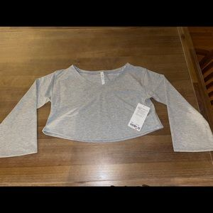 Lululemon Show Your Depth Crop Top Gray XS Small